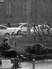 Derattizzazione........ (darioZ_________) Tags: street city italy milan film strada italia milano taxi homeless riposo sguardo taxidriver citt uomini panchina pausa contrasti grigiore derattizzazione