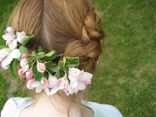 braids + apple blossoms