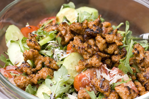Crumbled Sausage on Salad 2