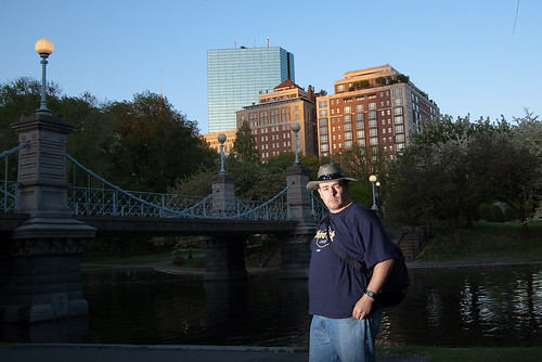 Boston Public Garden self portrait