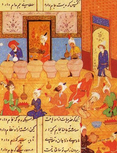 poesias de Hafez sg.XVI báquico