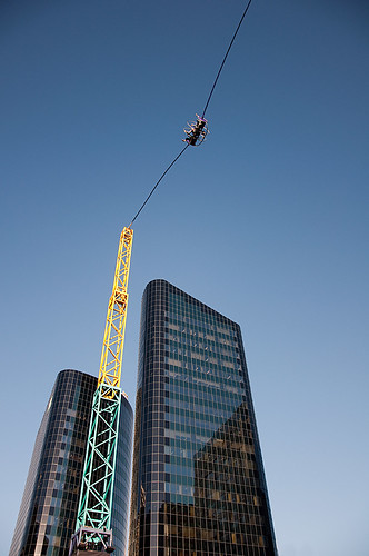 Bungy (or slingshot) in downtown Auckland - NZ