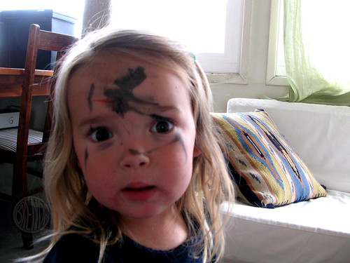 Somebody just lost her marker pen privileges