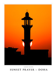 Sunset Prayer (rahsoft) Tags: sunset photoshop canon landscape geotagged spring minaret prayer may east 300mm middle friday doha qatar f32 mpf cotcmostfavorited project365 450d mywinners abigfave 5300953109open geo:lat=25352452 geo:lon=51478586 northduhail
