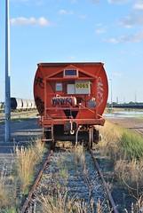 Orange railcar