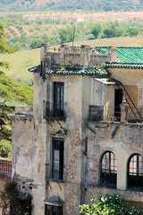 Ronda Mansion III (cwgoodroe) Tags: summer costa white hot sol beach del bells spain ancient europe churches sunny bull bullfighter adobe ronda moors walls washed clothesline protective newbridge roda bullring stonebridge oldbridge spainish whitehilltown rondah spanishdoors