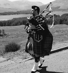 black mount scotish highlands scotland (plot19) Tags: man scotland highlands nikon glencoe bagpipes tartan plot19 scot09