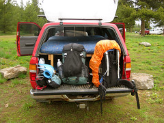 Backpacks packed (Lakeview, Montana, United States) Photo