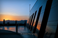 Reflection (Ahmed Abdul Haseeb) Tags: blue pakistan sunset people orange reflection wall islamabad haseeb canonpowershotg9