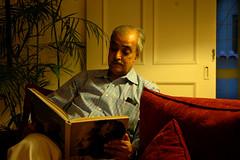 A simple portrait (Mobeen_Ansari (in Seattle, LA, TX and DC July-Augu) Tags: portrait colors book nikon d70 nikond70 nelson khan dslr simple tariq mandela