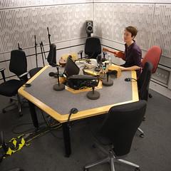 Kathy Clugston in Studio 70A, Broadcasting House (Steve Bowbrick) Tags: studio ukulele bbc broadcastinghouse 70b kathyclugston