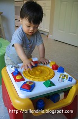 train action on Chicco Flip 'n Play Table