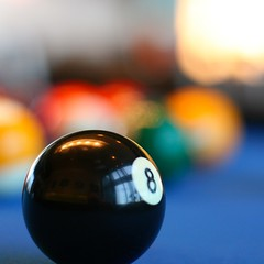 billiard bokeh (David Lipscomb) Tags: pool 50mm dof games eightball billiards f2 canonef50mmf14usm