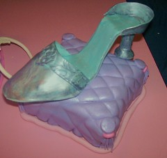 silver shoe (Enchanted Cakes of Brevard) Tags: shoe gumpaste