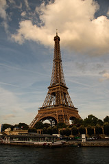 Eiffel Tower from our boat dinner cruise