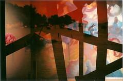 Wrecked Colors (jasminfish) Tags: bridge brazil cats colors brasil boats island lomo lomography barcos mask ponte es ilha wrecked máscara vilavelha colorido lomografia gambiarra 3ponte experiência morrodomoreno redscale fujisuperiaiso100 praiadoribeiro muitascores holga135bc