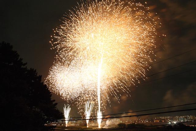 河川敷の花火