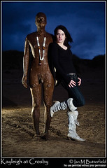 Crosby at night (Ian M Butterfield) Tags: beach night model ironman crosby antonygormley c3 gapc stobist