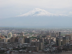 Mount Ararat &  Yerevan , Armenia (Alexanyan) Tags: city snow snowy capital mount armenia hay yerevan snowscape armenian ararat armenio armenien caucas armenie armeno caucasia erevan jerevan hayastan armenienne hayasdan armenisch rmeny