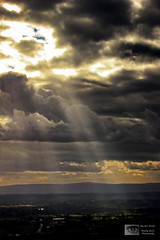 Long Rays (Mandy Jervis Photography - Beady's World) Tags: uk light sky sun clouds cheshire dramatic stormy rays shafts beams helsby