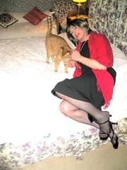 Im Out Of My Mind ........ (Julie Bracken) Tags: old red portrait fashion hair tv cd mini skirt crossdressing tgirl transgender mature tranny transvestite crossdresser crossdress kinky tg trannie mtf m2f feminized enfemme xdresser tgurl feminised transsister julieb85