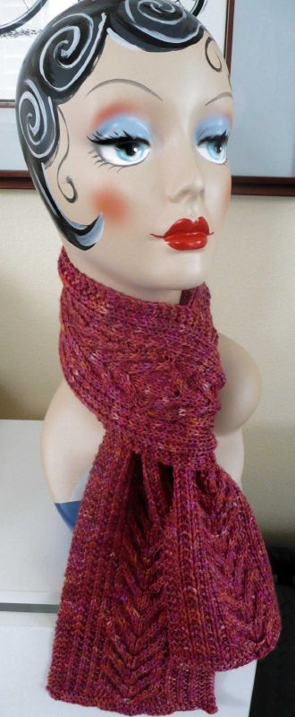 Vickis Victory Scarf - Abstract Fibers5