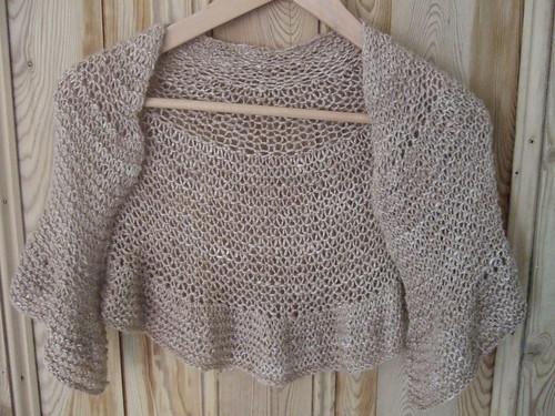 camel silk shawlette
