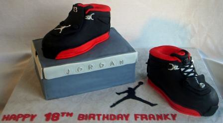Nike Air Jordan XVIII Shoes Cake