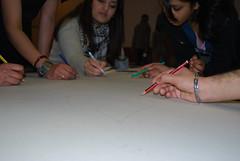 Teenage group prepare Large rangoli as a team (artsekta) Tags: rangoli youthart artsekta riceart