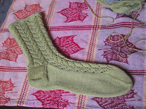 Green Lace Socks 5
