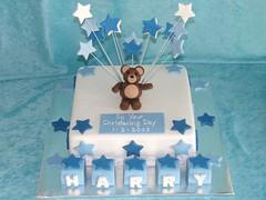 little boy blue (suzydoescakes) Tags: blue boy christeningcake