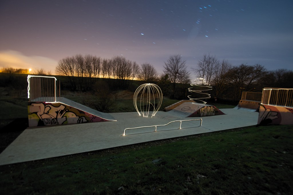 3330973255 9f458f402c b Skatepark Light Graffiti Art
