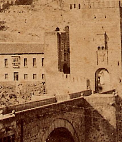 Puerta de San Ildefonso. Fotografía estereoscópica de Toledo