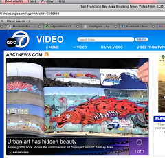 Abc 7 news piece on bay area graffiti unaesthetic tags news records