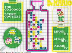dr mario cross-stitch pattern (charismaq) Tags: crossstitch crafts videogames drmario