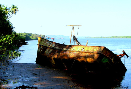 Ship, Old Goa, India