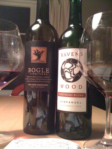 Grape Madness Round #1: Bogle vs. Ravenswood