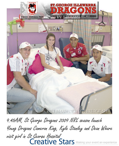 St George Dragons visit hospital