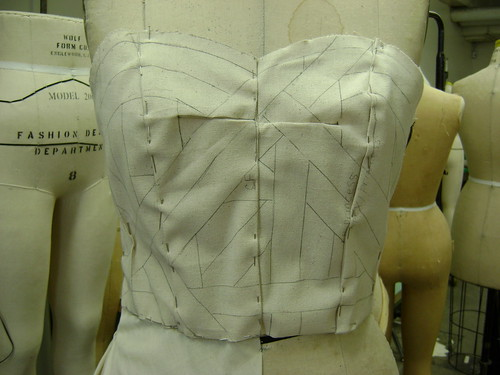 Bodice close up view.