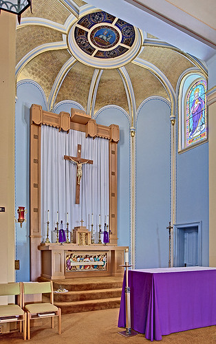 Immaculate Conception (Saint Mary's) Roman Catholic Church, in Brussels, Calhoun County, Illinois, USA - sanctuary 2
