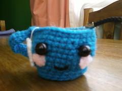 A cup of tea. (Ani Lidia) Tags: happy gato poop amigurumi medusa torta pulpo osito