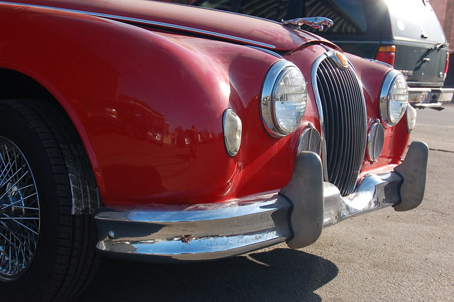 Red Jaguar Mark 1 Headlights grille amp bumper by Chris Devers