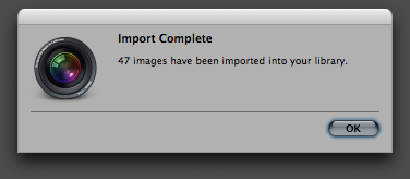 Step 05a -- Import successfully completed