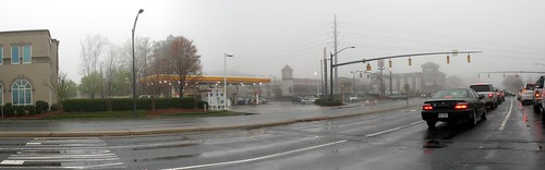 Sharon and Fairview Foggy Panorama
