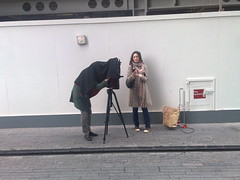 picture of an old school photographer on More London