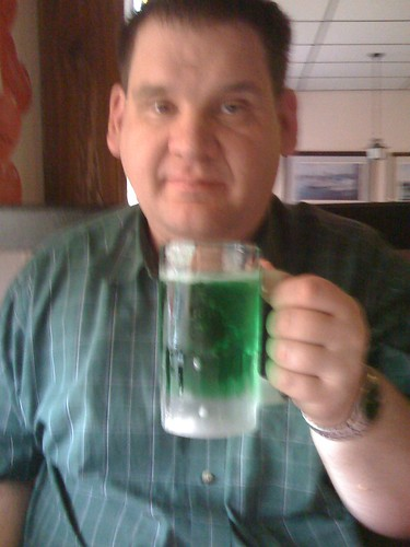 Green Beer - it must be St. Patrick's Day in America