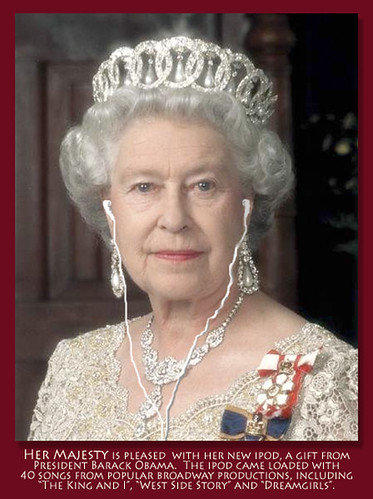 The Queen and Her New iPod