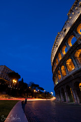 Colosseum Trails (Sean Molin Photography) Tags: city longexposure rome roma heritage scale beautiful soldier fight lowlight european roman circus landmark colosseum arena huge coliseum epic colossal emperor gladiator colosseo wonderoftheworld colise colorsofthenight vacationeuropeitalyrome2009marchvacationitalli vacationeuropeitalyrome2009marchvacationitallian seanmolin wwwseanmolincom