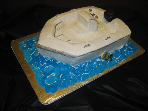 Jones Brothers Cape Fisherman Last Cast Fishing Boat Cake