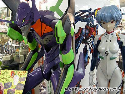 Neon Genesis Evangelion - giant figurines